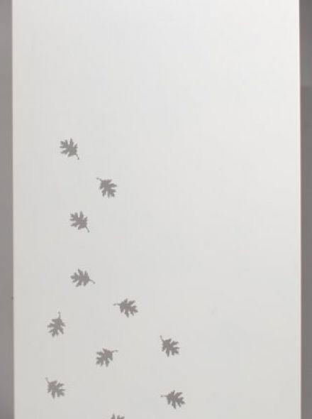 Schutting aluminium 90 x180 cm met eikenbladeren