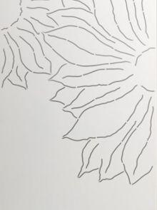 Schutting aluminium 90 x180 cm met bloemen links