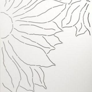 Schutting aluminium 90 x180 cm met bloemen rechts