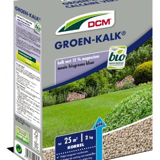 DCM Groen-Kalk® - Kalkbemesting - 2 kilogram (Gazonkalk 20 m2)