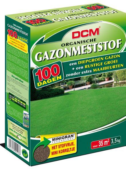 DCM Organische Gazonmeststof - 3,5 kilogram (Gazonbemesting 35 m2)