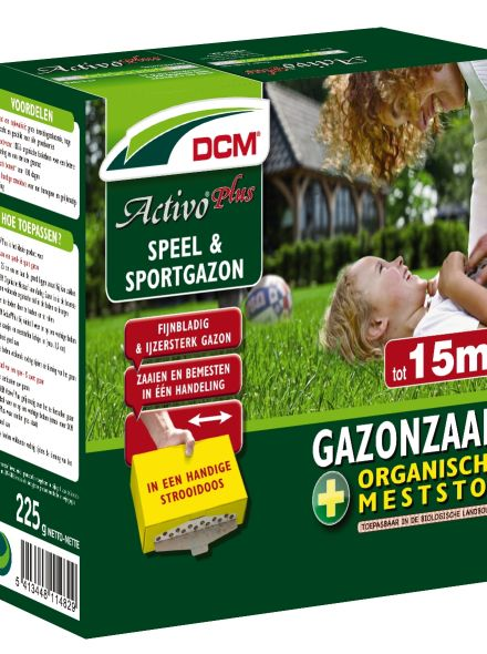 Speelgazon -  Sportgazon graszaad - DCM Activo® Plus - 15 m2 - 225 gram