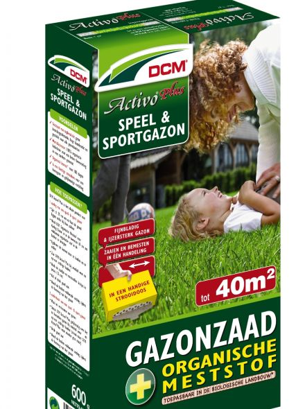 Speelgazon -  Sportgazon graszaad - DCM Activo® Plus - 40 m2 - 600 gram