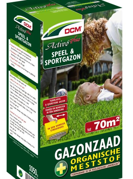 Speelgazon -  Sportgazon graszaad - DCM Activo® Plus - 70 m2 - 1005 gram