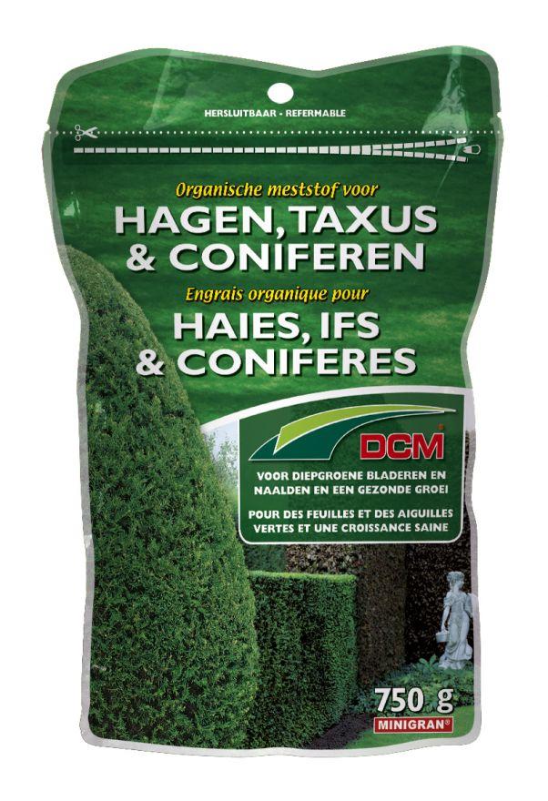 DCM Organische Meststof, Bemsting voor Hagen, Taxus & Coniferen 750 gram - +/- 15 meter haag