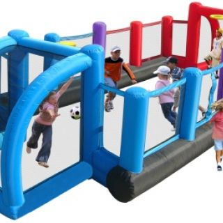 Voetbal Springkussen Happy Hop Inflatable Soccer Field (HH9072)