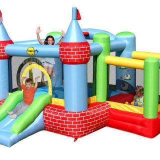 Springkussen Happy Hop Castle Bouncer with Farmyard Ballpit (HH9112)