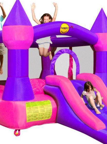 Springkussen Happy Hop Castle Bouncer with Slide P (HH9017P)