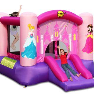 Springkussen Happy Hop Princess Slide and Hoop Bouncer (HH9201P)