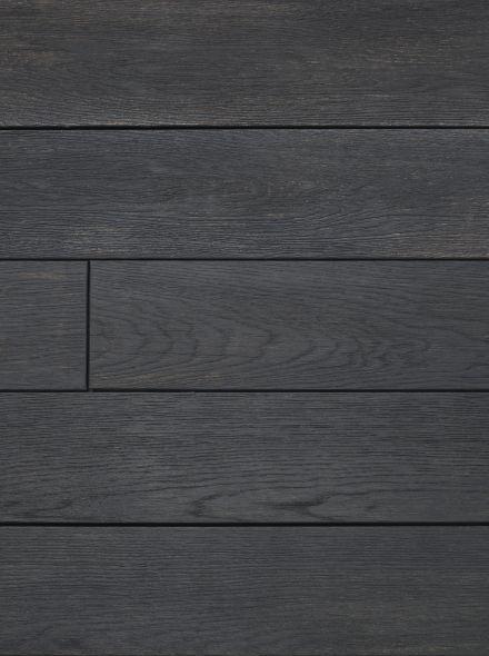 Buitenvloer eiken verkoold (plank 17,6 x 3,2 x 360 cm)