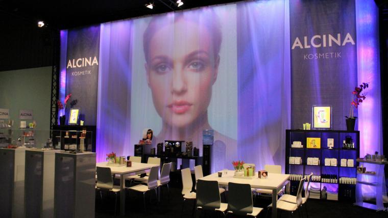 Beursstand Alcina Kosmetik 2012