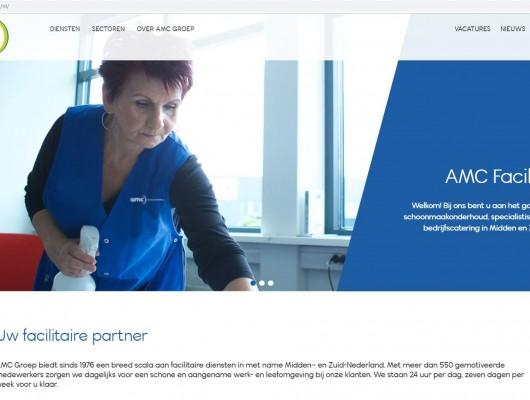 Nieuwe website Schoonmaakbedrijf  AMC Groep