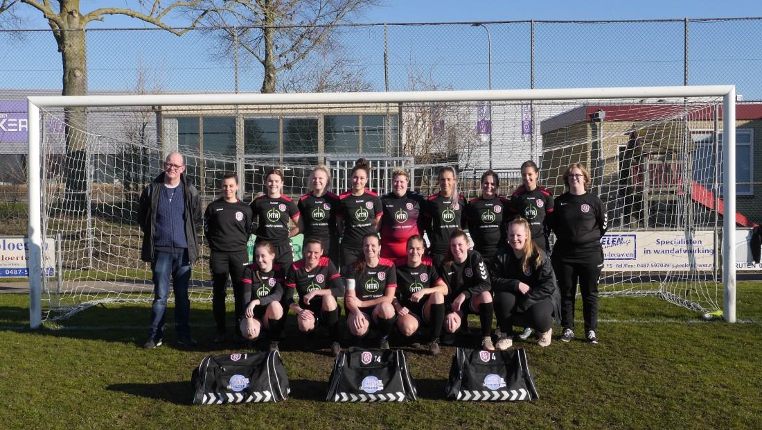 HTR security systems is de trotse shirtsponsor geworden van het damesvoetbalteam van F.C. Maas en Waal.