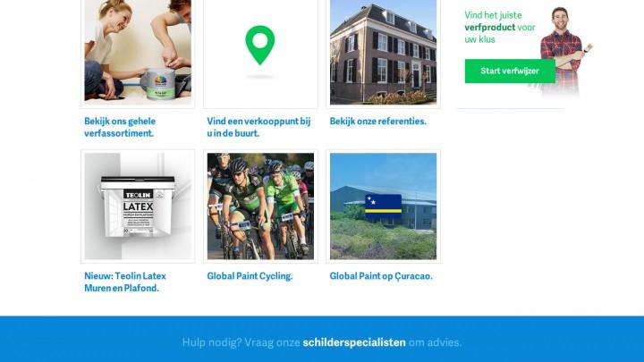 Een nieuwe website voor Global Paint Products