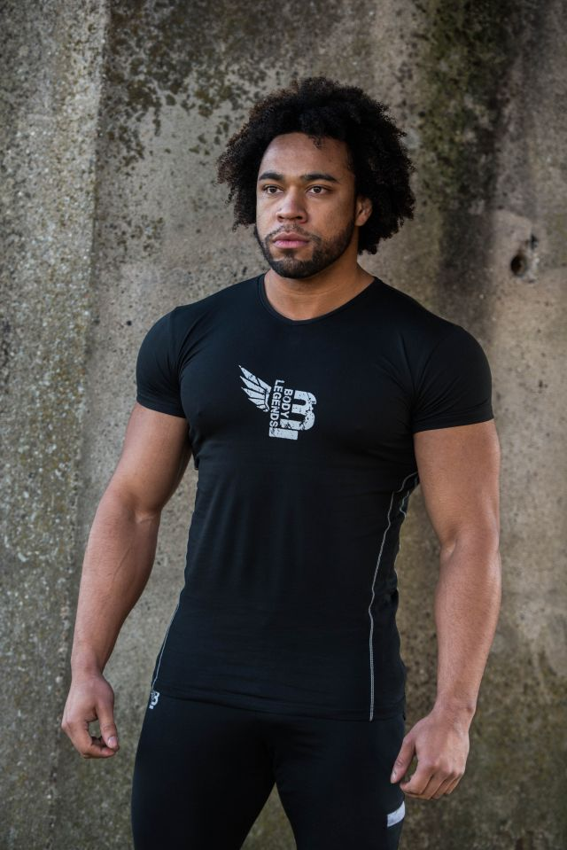Body Legends Toned T-shirt - Icon Alpha Black