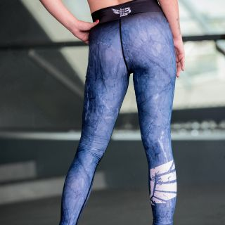 Legging Marbelous Blue