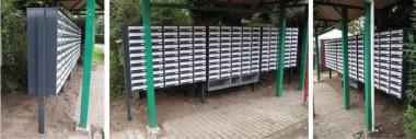 Pakketbox 800 achteruitname Zwart