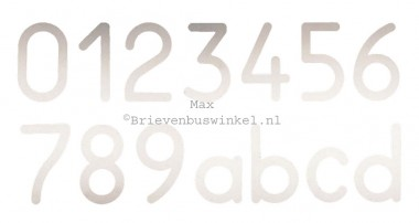 Huisnummer Max RVS 9
