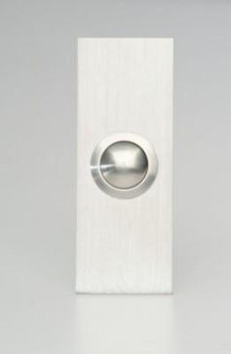 Deurbel 2mm RVS Smalle Rechthoek
