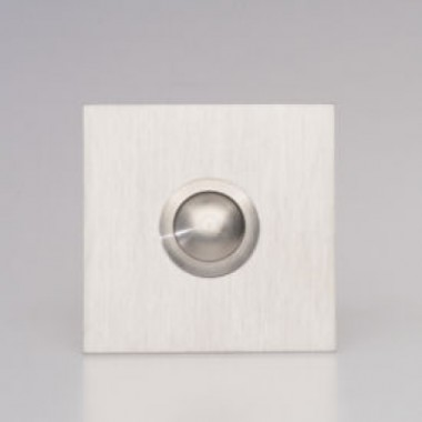 Deurbel 2mm RVS Vierkant