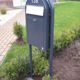 Bobi Grande Slim Donkergrijs ral 7016 met RVS klep