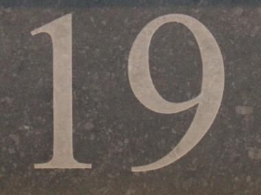 Lasergravering huisnummer