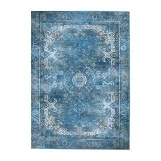 Vintage Tapijt Carpet Liv Blauw
