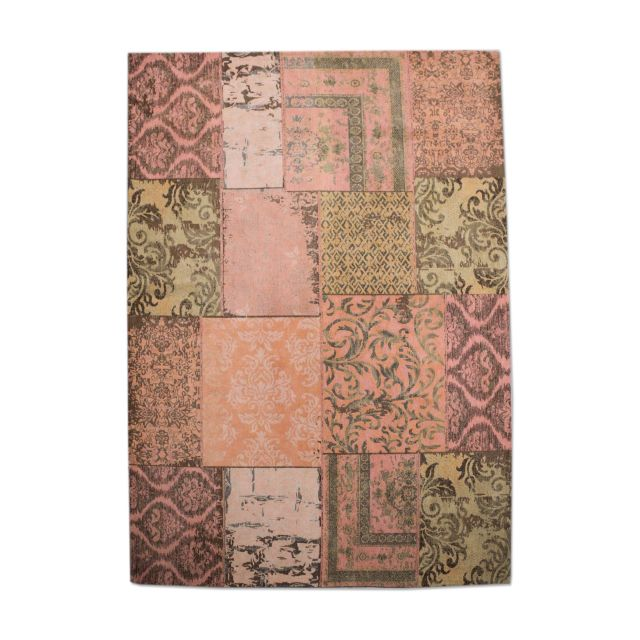 Vintage Tapijt Patchwork Orange