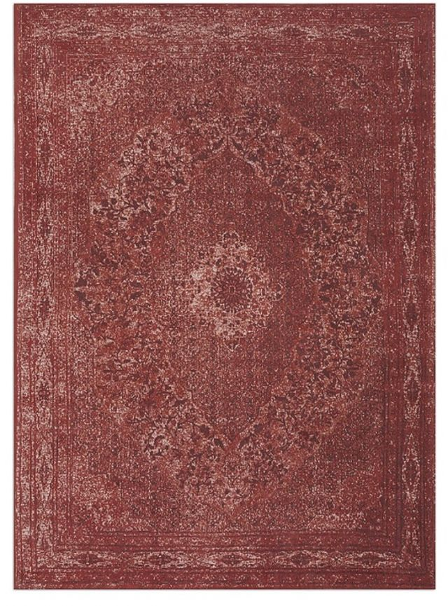 Geweven Vintage tapijt vloerkleed rood