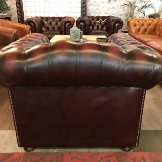 Engelse Chesterfield Springvale club fauteuil Oxblood Rood