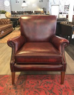 Engelse Springvale Study Chair Oxblood Rood