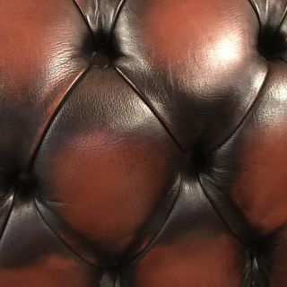 Engelse Chesterfield zithoek 2 x 2 Zits banken Dark Rust