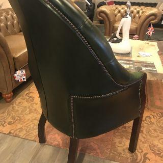 Engelse Chesterfield Director fauteuil Groen