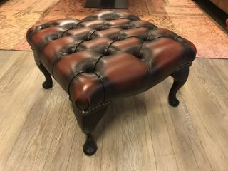 Springvale Chesterfield hocker / voetenbankje Dark Rust