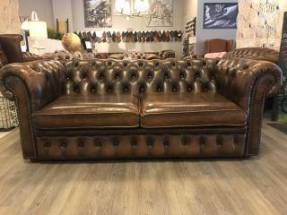 Engelse Chesterfield 2,5 Zits bank Tabacco Bruin