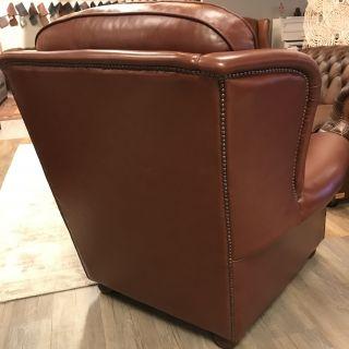 Engelse Chesterfield fauteuil Highlander roodbruin als Nieuw