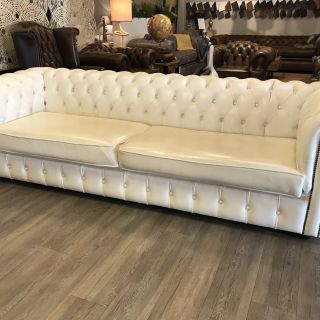 Engelse XL Chesterfield 4 Zits bank Wit