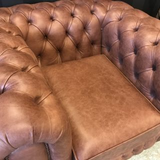 Showroommodel Chesterfield bankstel Wales 3+2+1 vintage Mahony