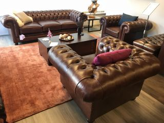 SHOWROOMMODEL 3-1-1 chesterfield zithoek derby in vintage leder