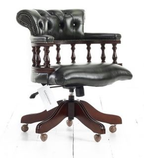 Captainchair chesterfield bureaustoel