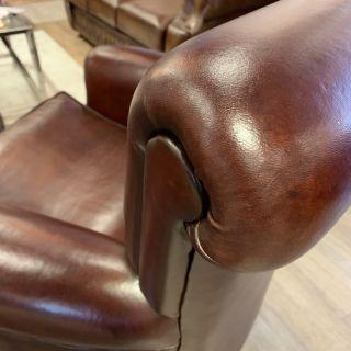 2 x schapenleren fauteuils van Muylaert