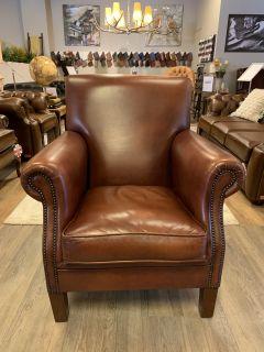 Engelse chesterfield fauteuil van Bendic Cognac Bruin Oldham