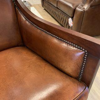 Chique schapenleren fauteuil van Bendic model Grace