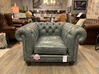 Showroommodel The Edinburgh XL club fauteuil in vintage grijs leder