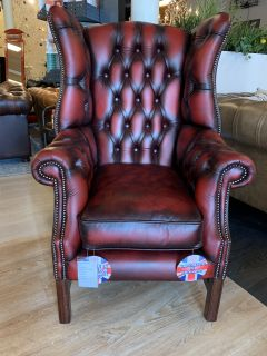 SHOWROOMMODEL The Cardiff chesterfield Wingchair Oxblood Rood