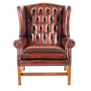 The Georgian chesterfield XL oorfauteuil