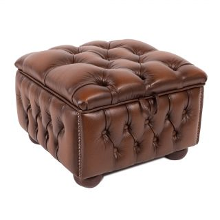 The York chesterfield hocker