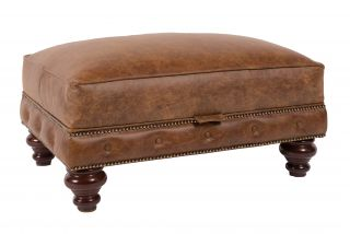 The Derby chesterfield hocker
