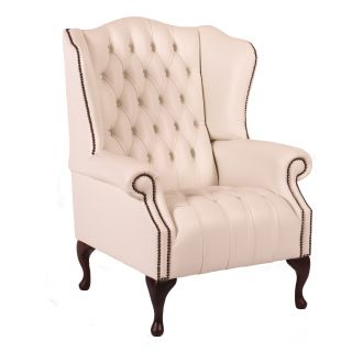 The leicester chesterfield oorfauteuil