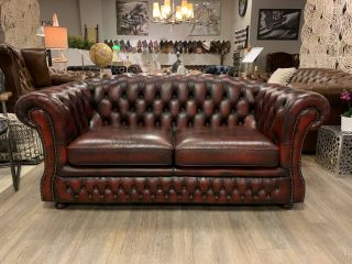 Engelse Springvale chesterfield 2,5 zits bank Oxblood Rood